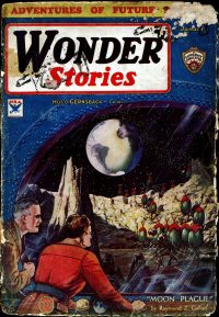 Large Thumbnail For Wonder Stories v5 06 - The Exile of the Skies - Richard Vaughan