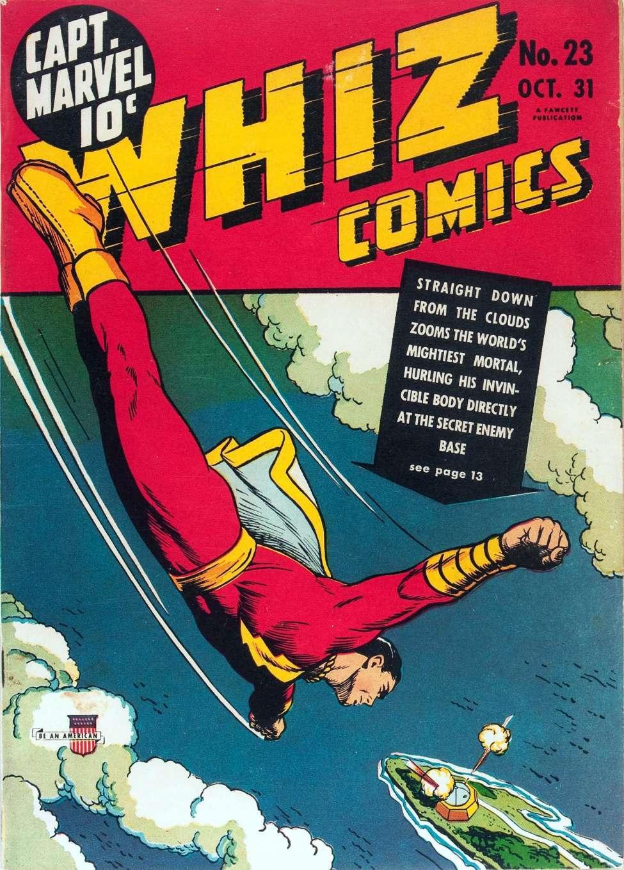 Comic Book Cover For Whiz Comics #23