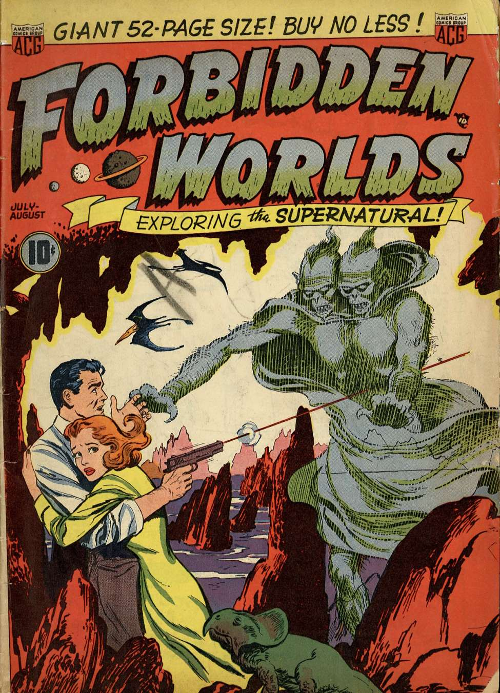Comic Book Cover For Forbidden Worlds #1