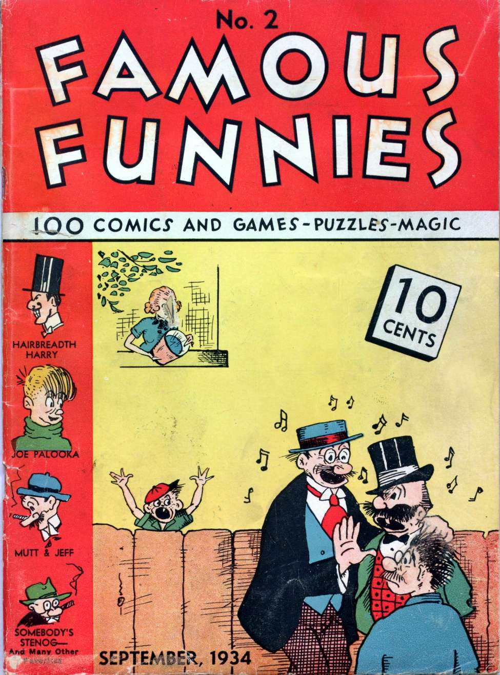 Comic Book Cover For Famous Funnies #2