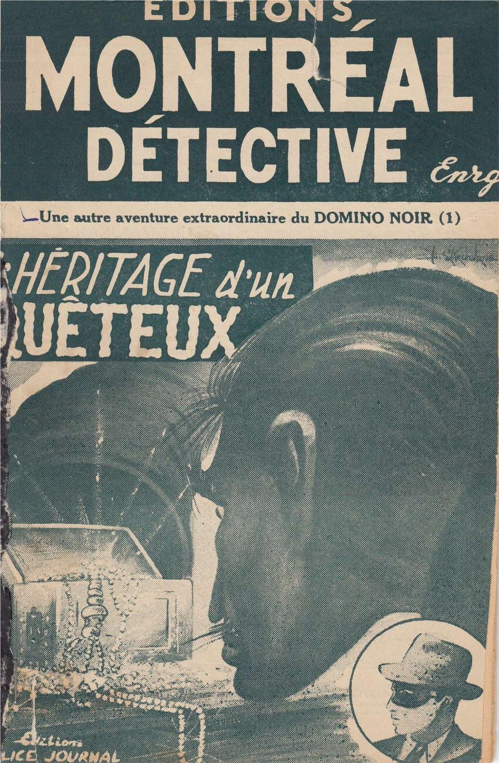 Comic Book Cover For Domino Noir v2 01 - L'hereitage d'un Queteux