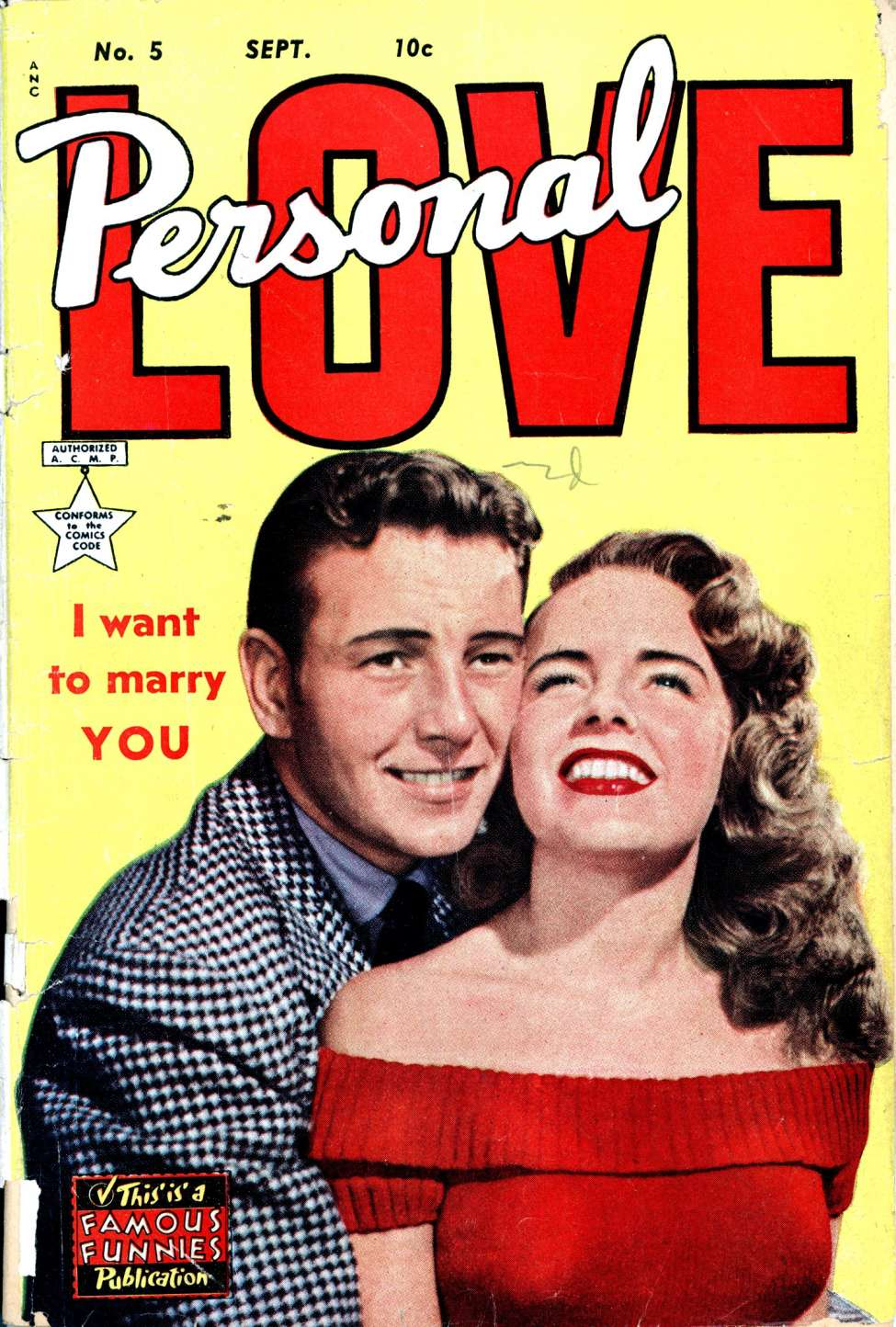 Comic Book Cover For Personal Love #5