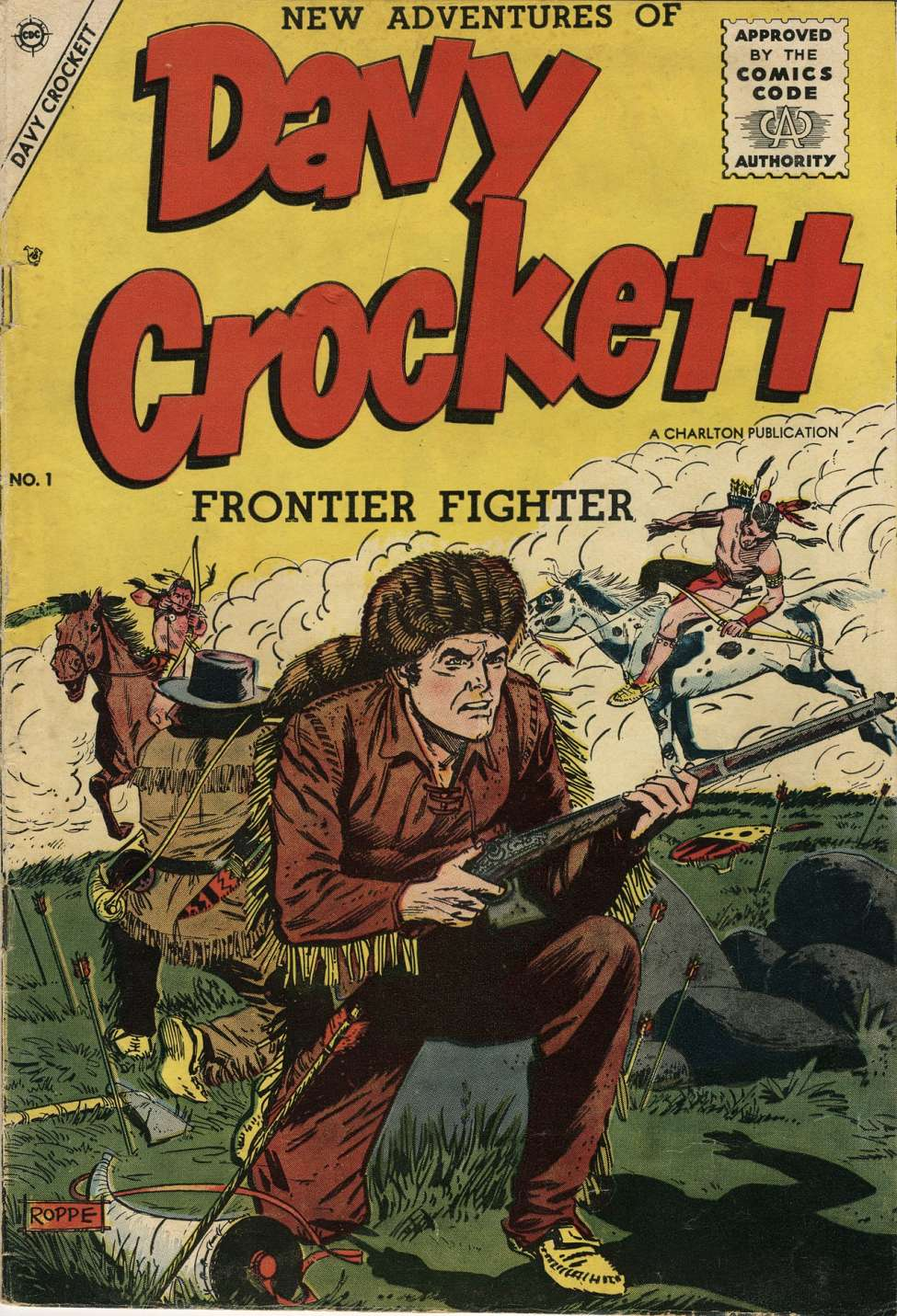 Comic Book Cover For Davy Crockett #1