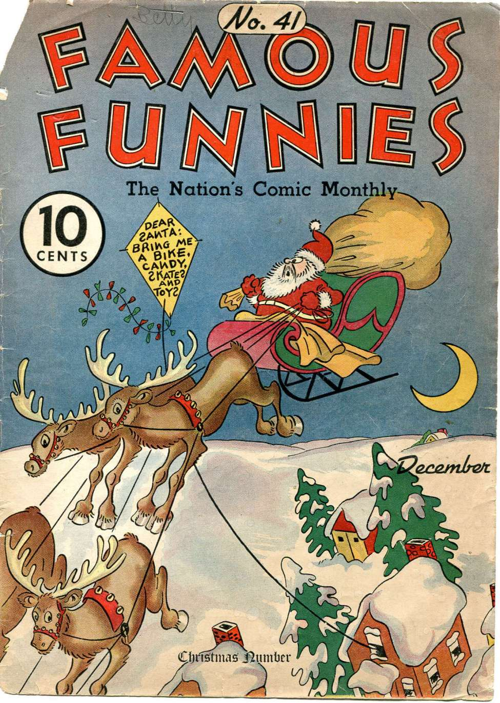Comic Book Cover For Famous Funnies #41