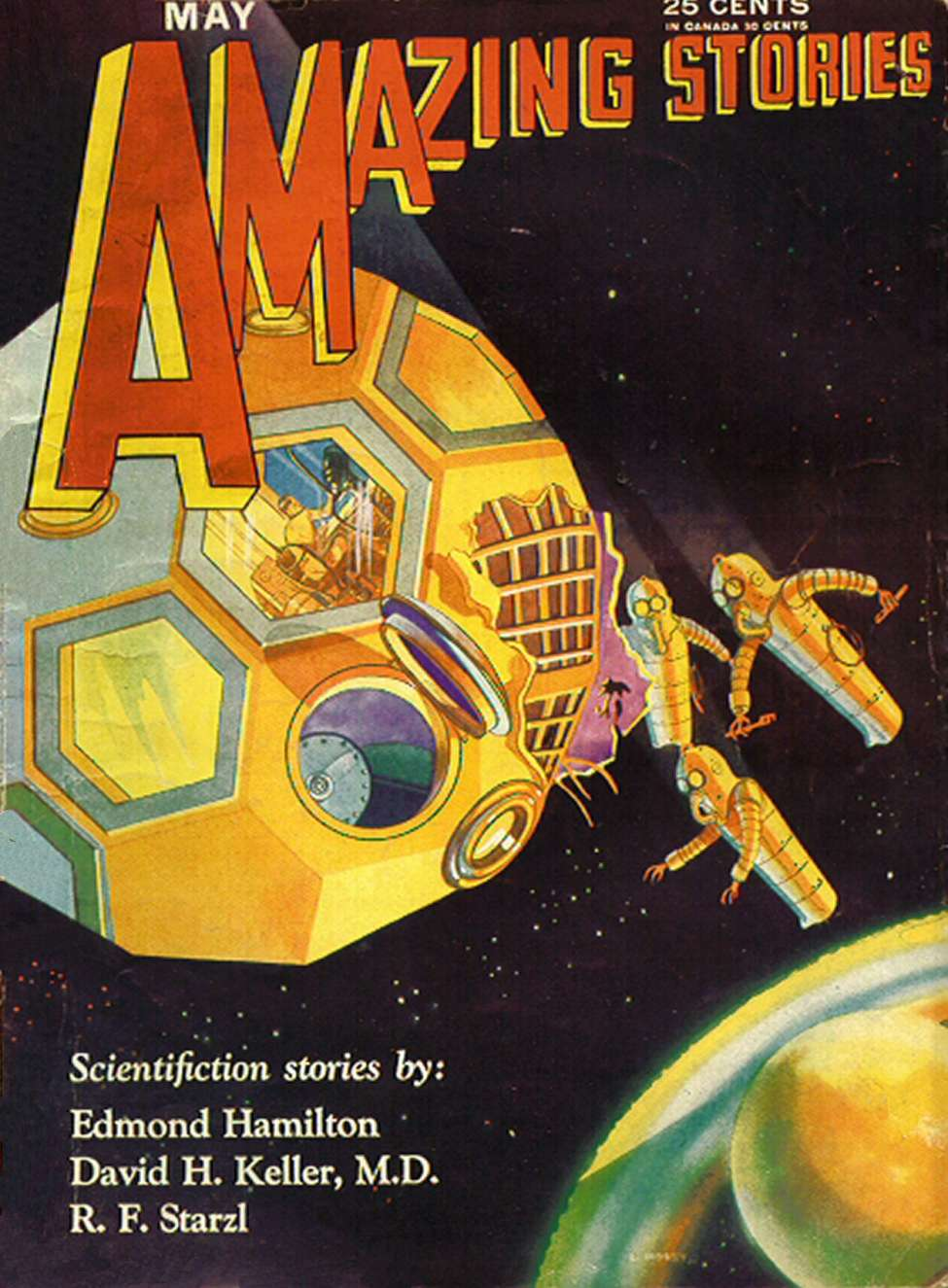 Comic Book Cover For Amazing Stories v05 02 - The Universe Wreckers - Edmond Hamilton