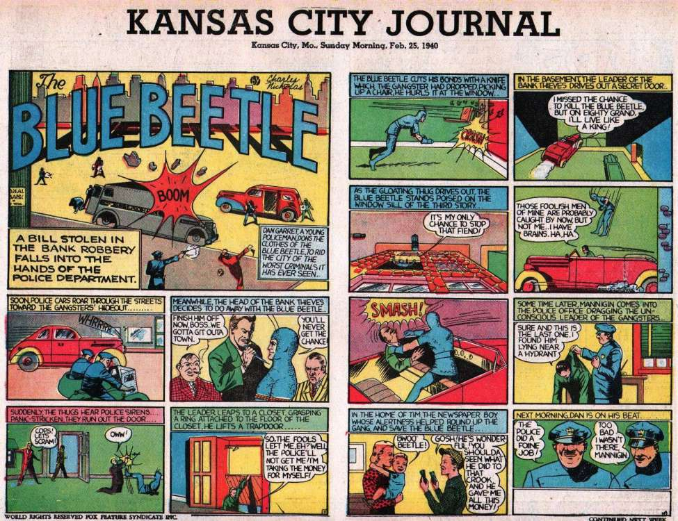 Comic Book Cover For Fox Syndicate Sunday Strips 1940-02-25 - Kansas City Journal