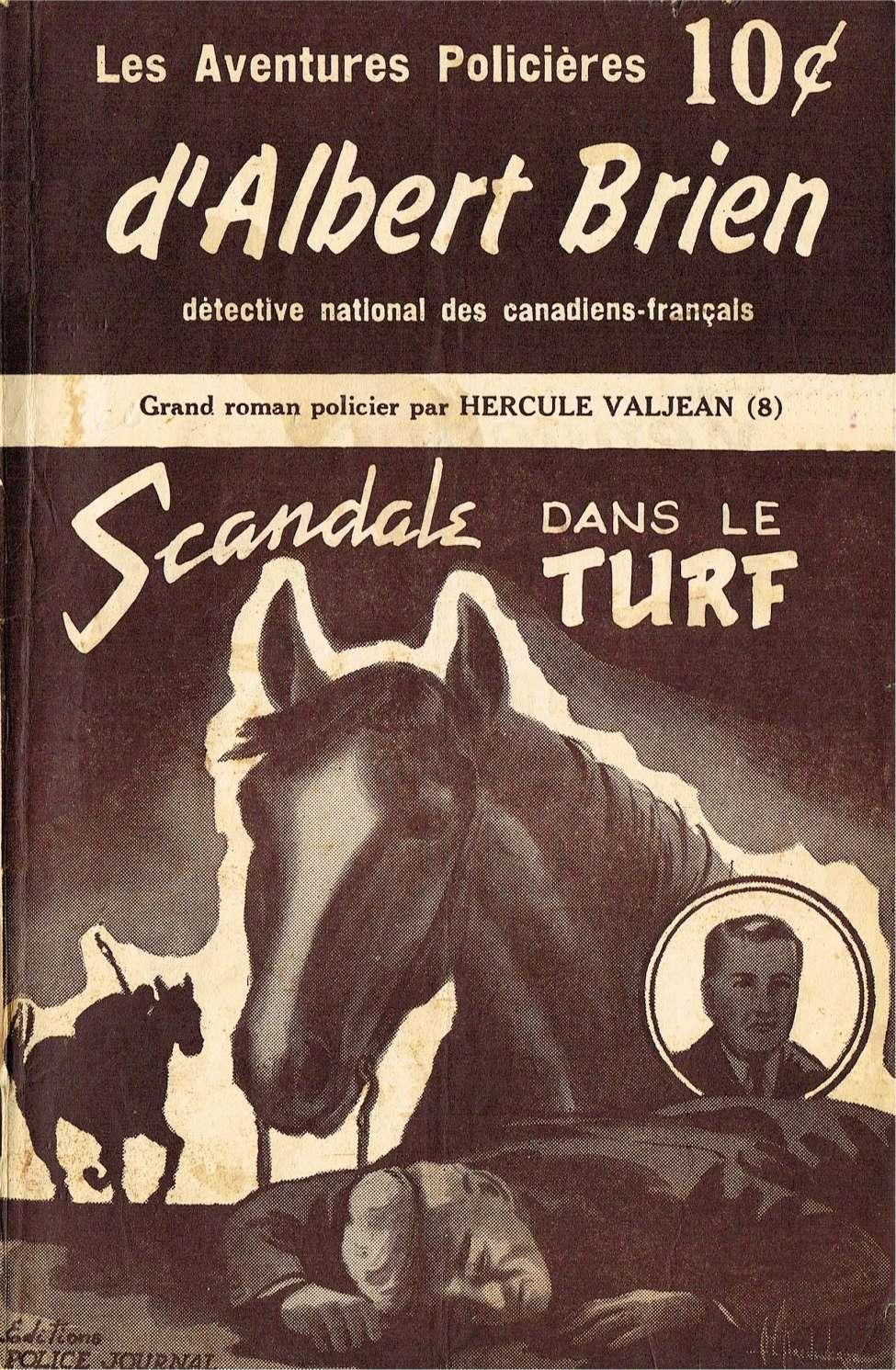 Comic Book Cover For Albert Brien v2 08 - Scandale dans le Turf