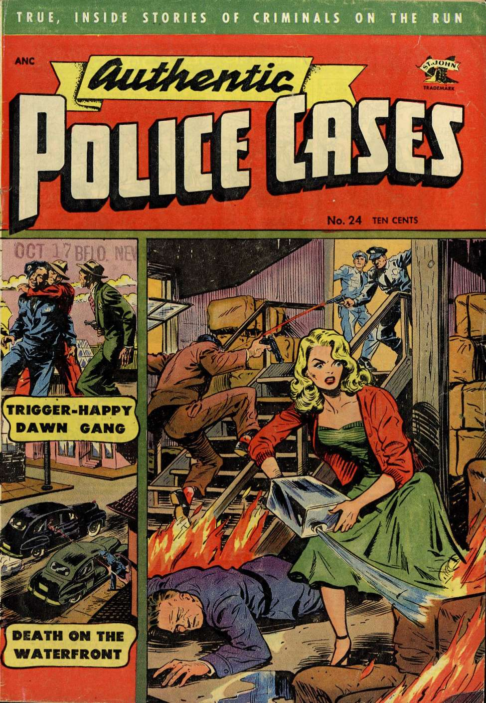 Comic Book Cover For Authentic Police Cases #24