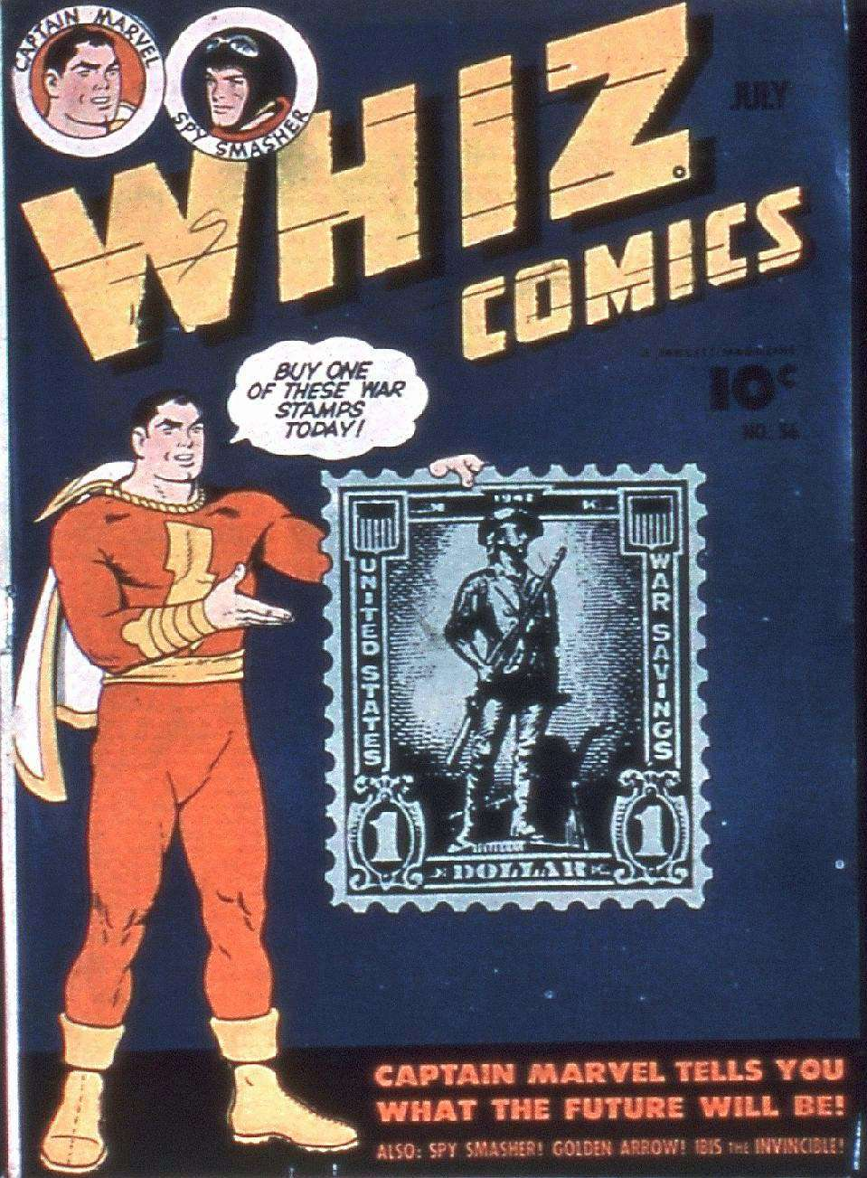 Comic Book Cover For Capt. Marvel Whiz Archives Vol 13