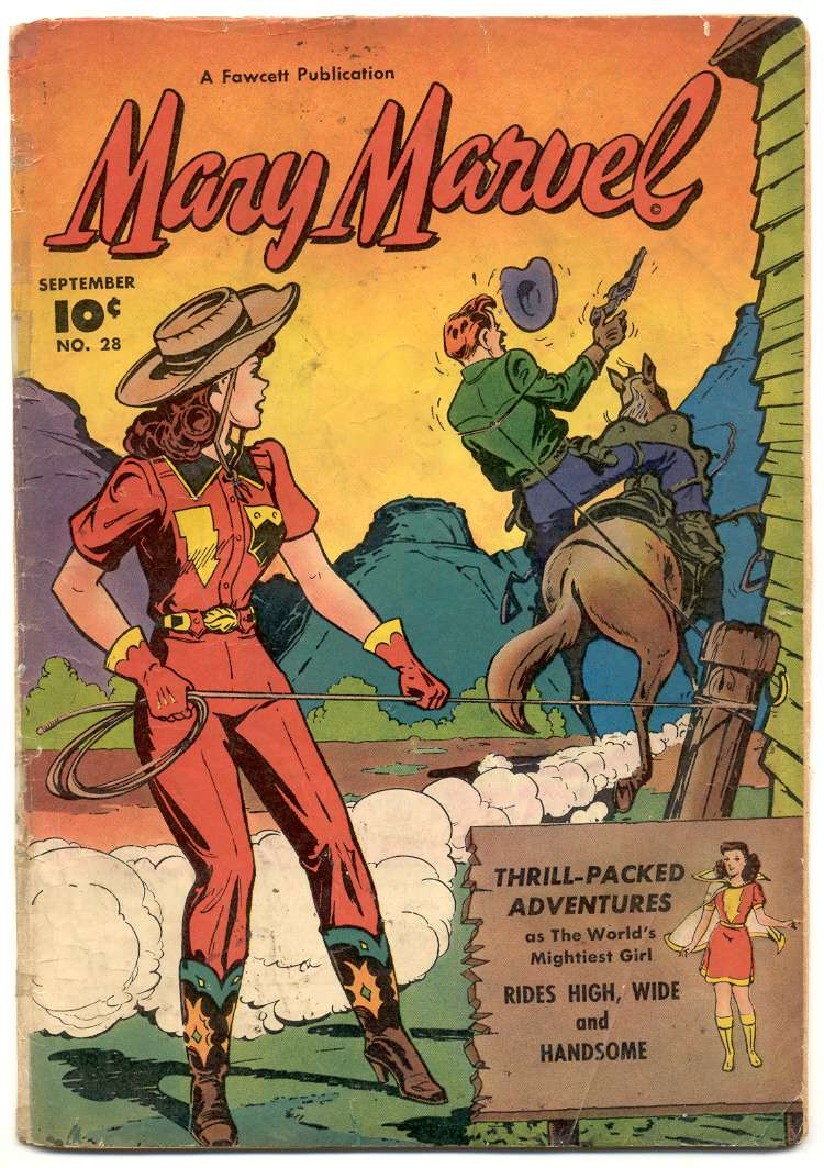 Comic Book Cover For Mary Marvel #28