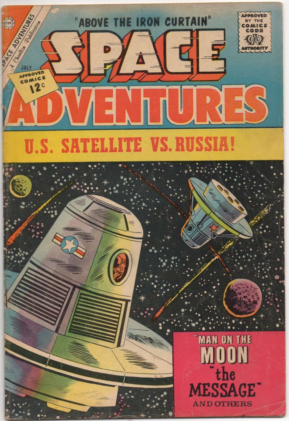 Comic Book Cover For Space Adventures #46