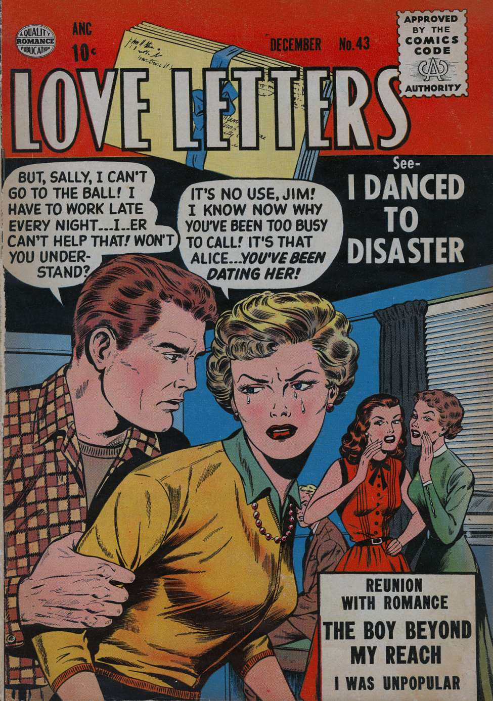 Comic Book Cover For Love Letters #43