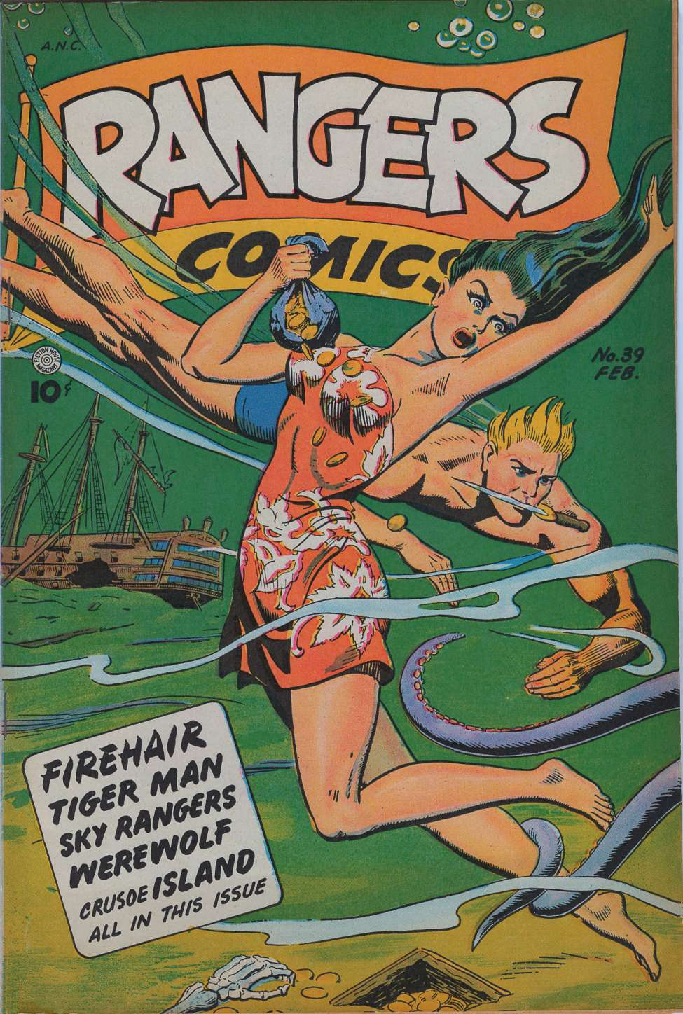 Comic Book Cover For Rangers Comics #39