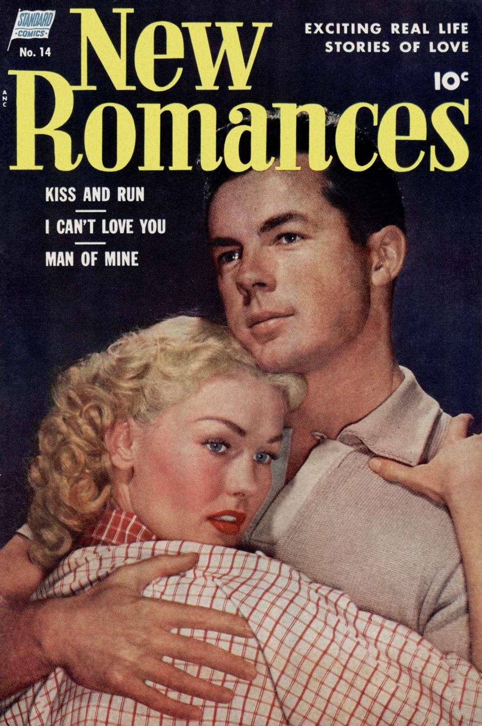 Comic Book Cover For New Romances #14
