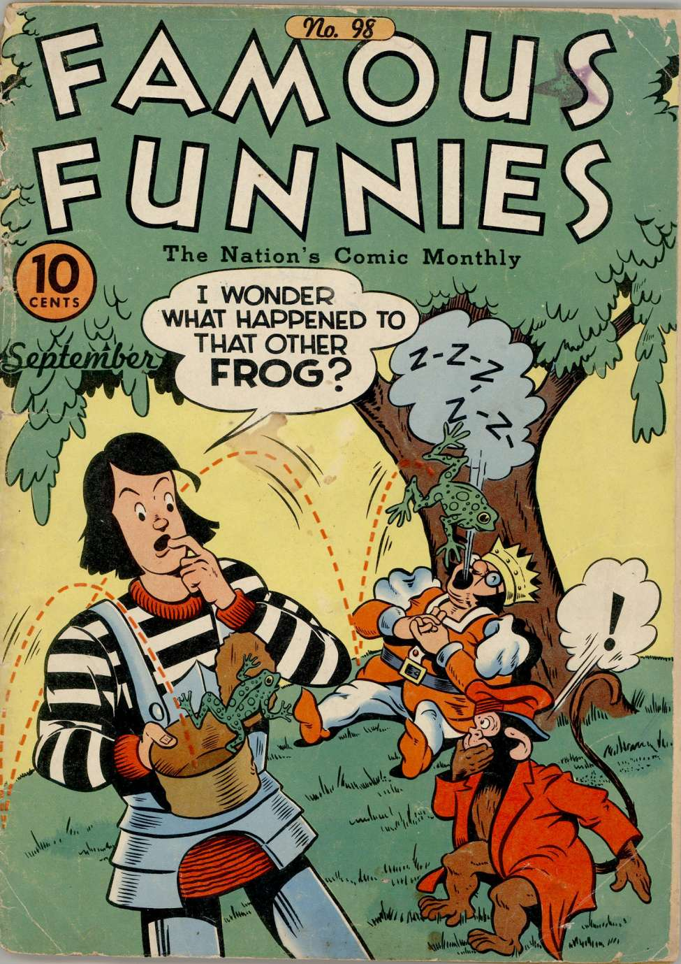 Comic Book Cover For Famous Funnies #98