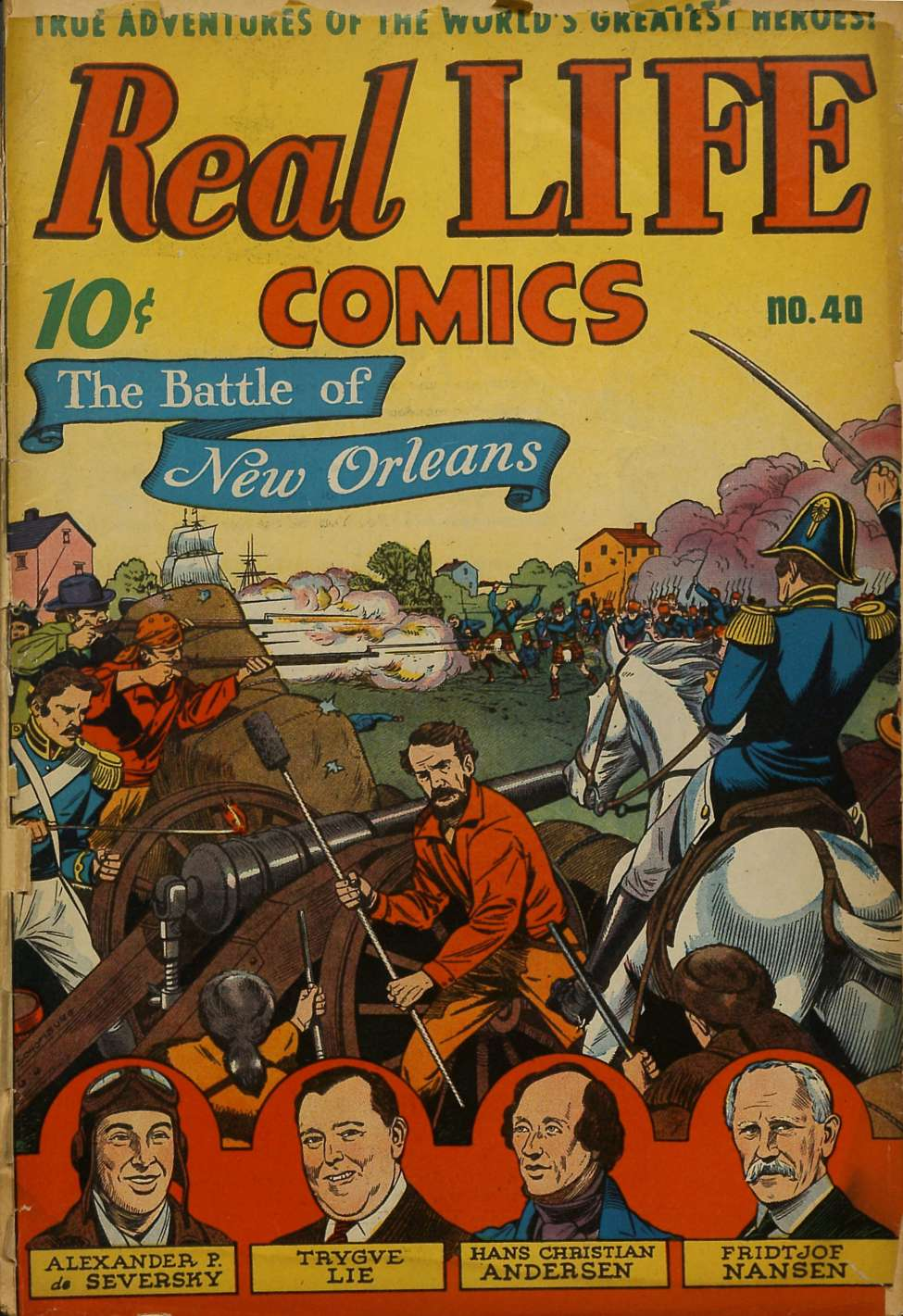Comic Book Cover For Real Life Comics #40