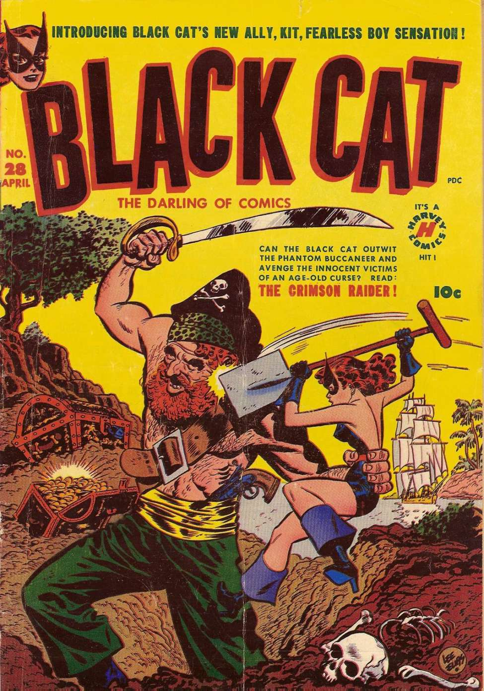 Comic Book Cover For Black Cat #28