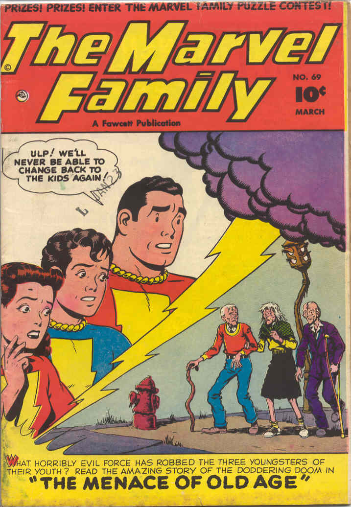 Comic Book Cover For The Marvel Family #69