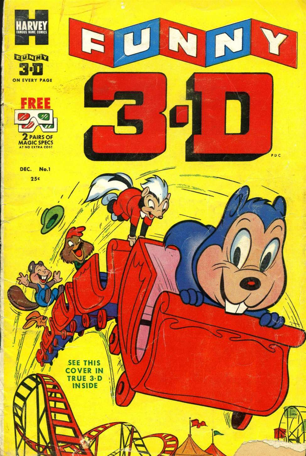 Comic Book Cover For Funny 3-D 1