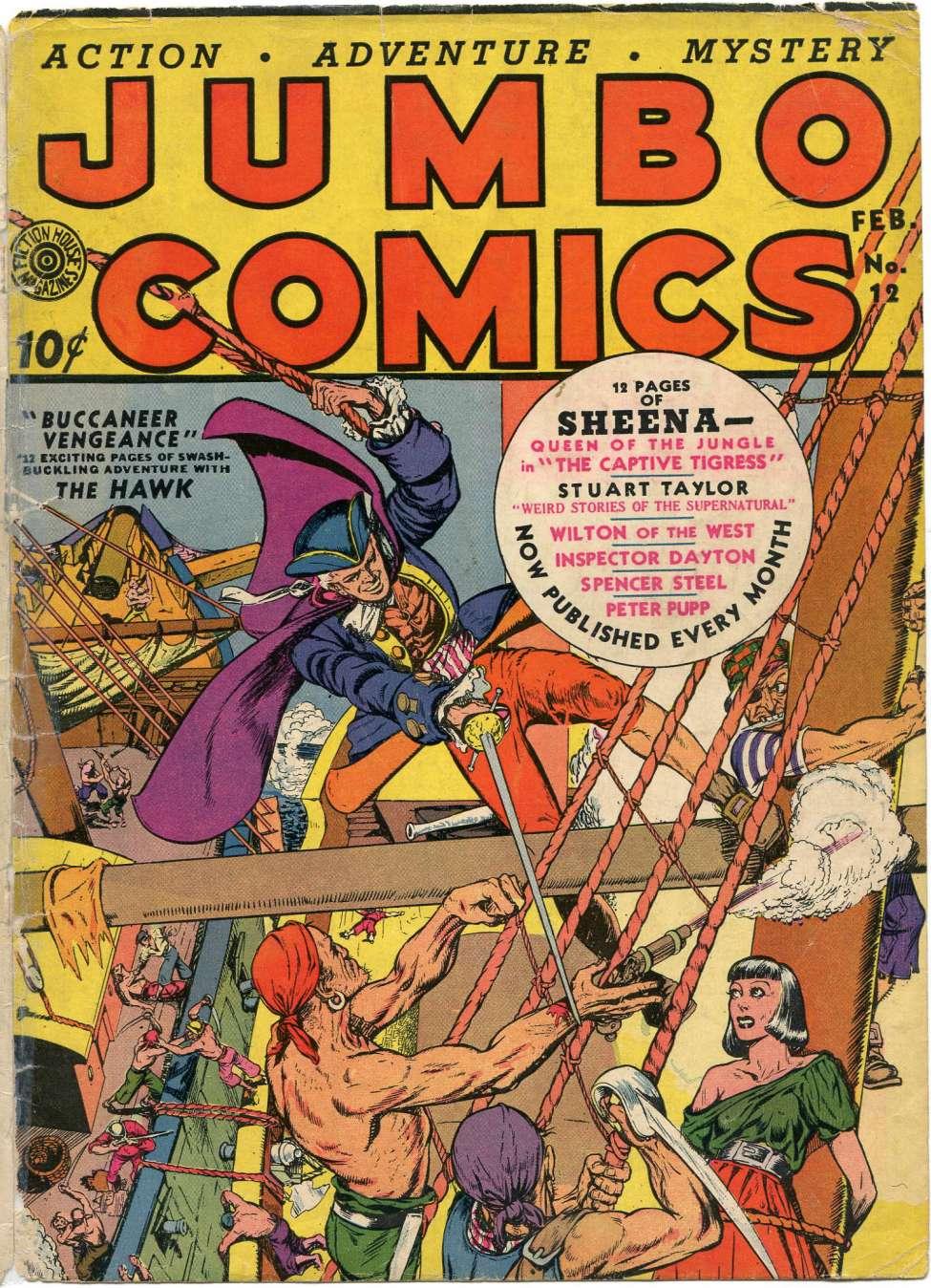 Comic Book Cover For Jumbo Comics #12