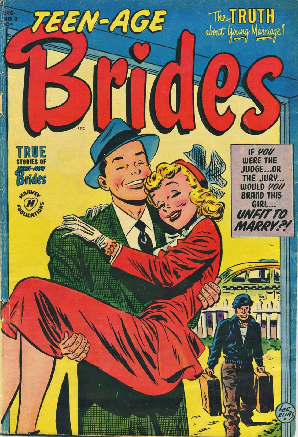 Comic Book Cover For Teen-Age Brides #3