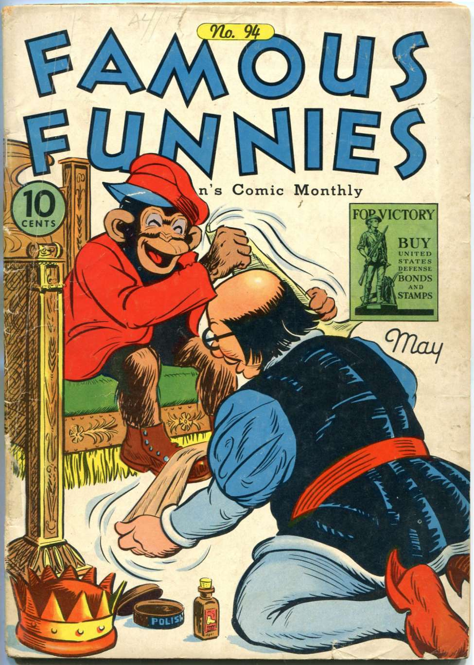 Comic Book Cover For Famous Funnies #94