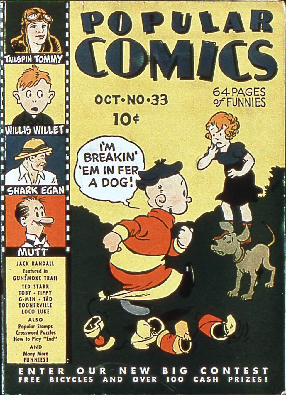 Comic Book Cover For Popular Comics #33
