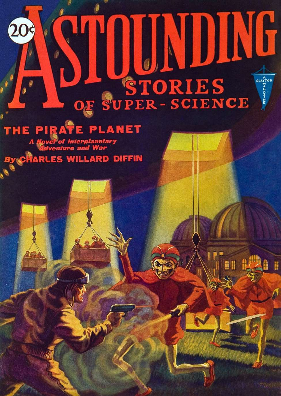Comic Book Cover For Astounding Serial - The Pirate Planet - C W Diffin