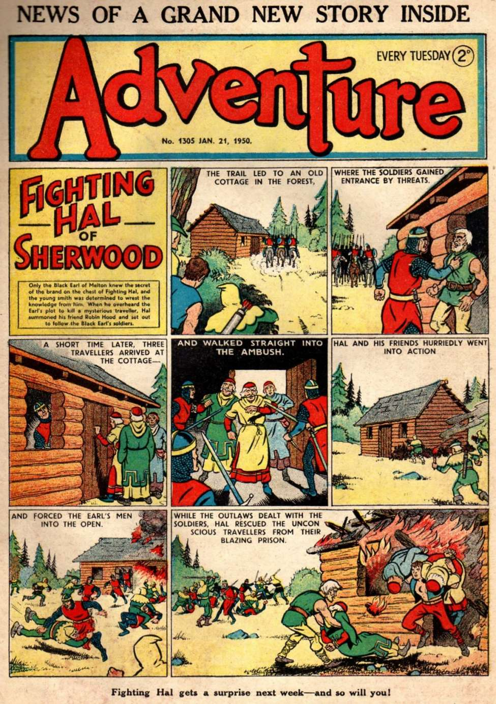 Comic Book Cover For Adventure 1305