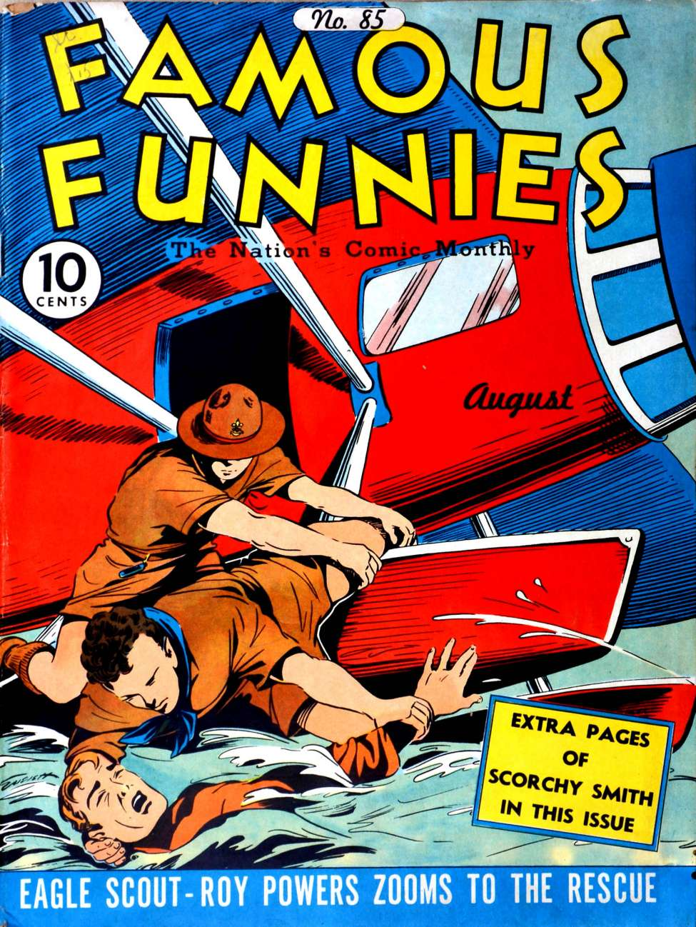 Comic Book Cover For Famous Funnies #85 - Version 1