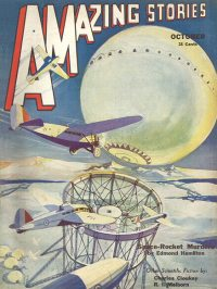 Large Thumbnail For Amazing Stories v07 07 - Space-Rocket Murders - Edmond Hamilton