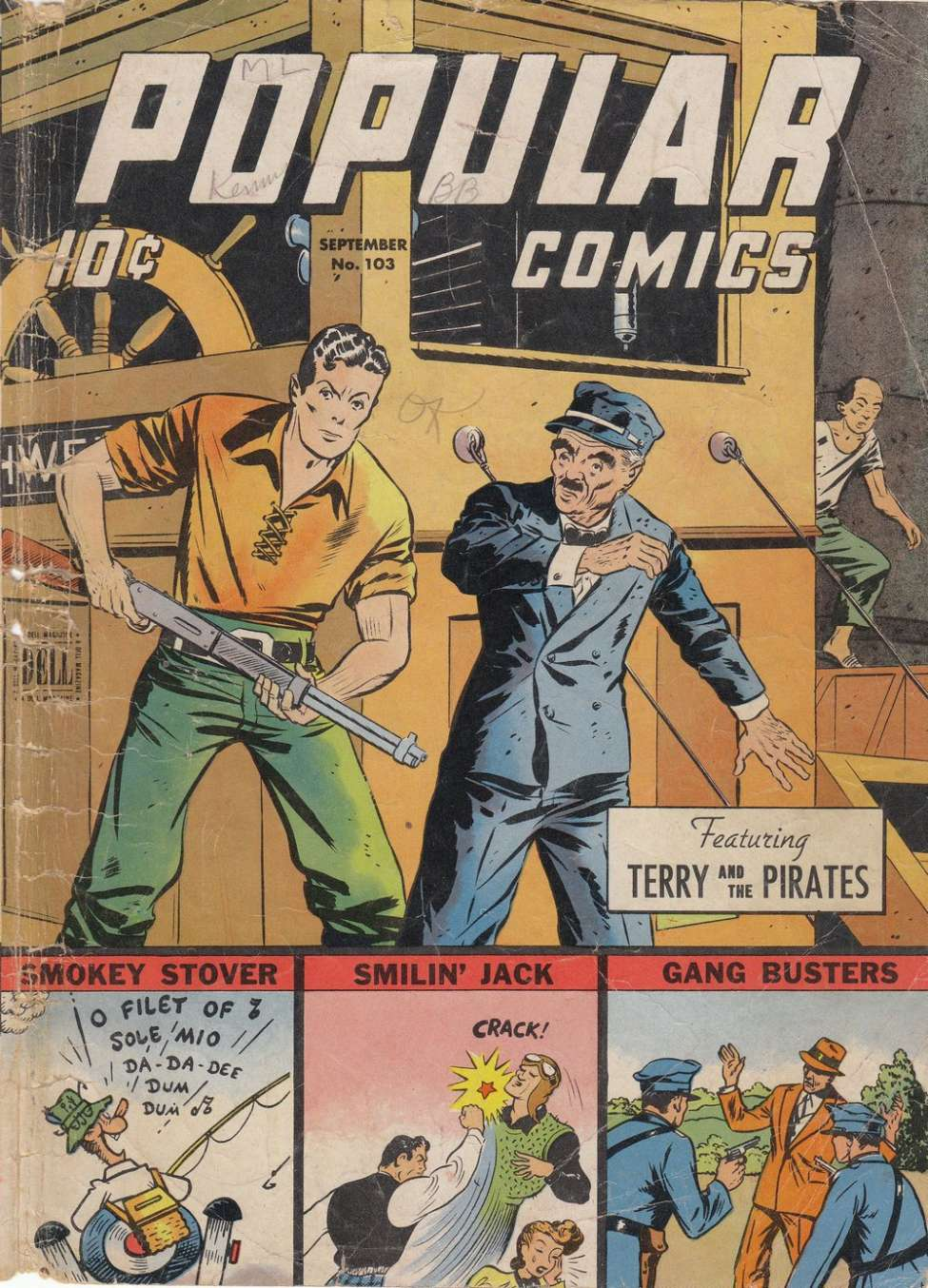 Comic Book Cover For Popular Comics #103