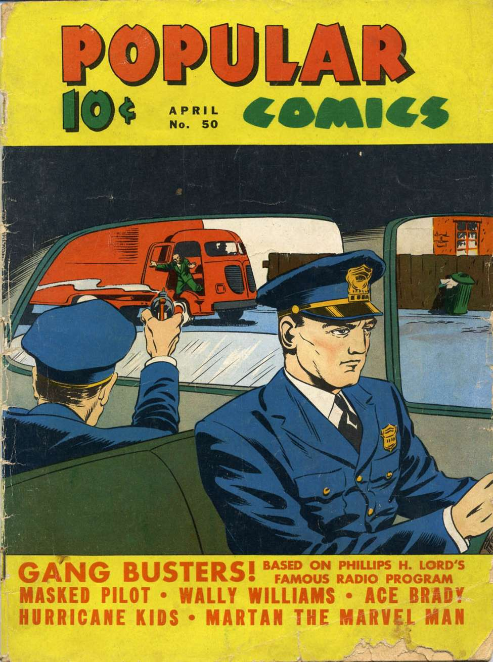 Comic Book Cover For Popular Comics #50