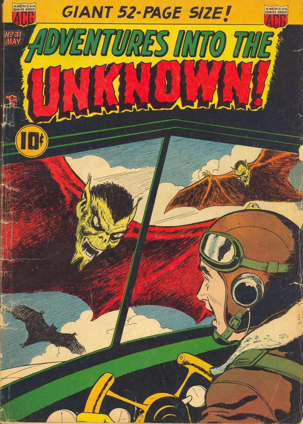 Comic Book Cover For Adventures into the Unknown #31