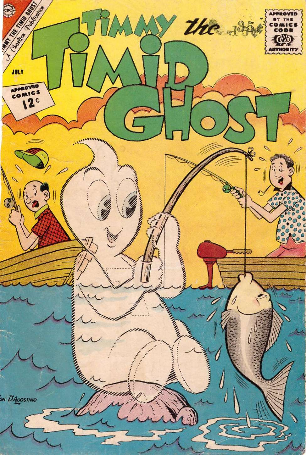 Comic Book Cover For Timmy the Timid Ghost #33