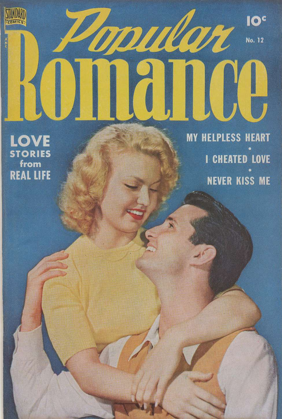 Comic Book Cover For Popular Romance #12