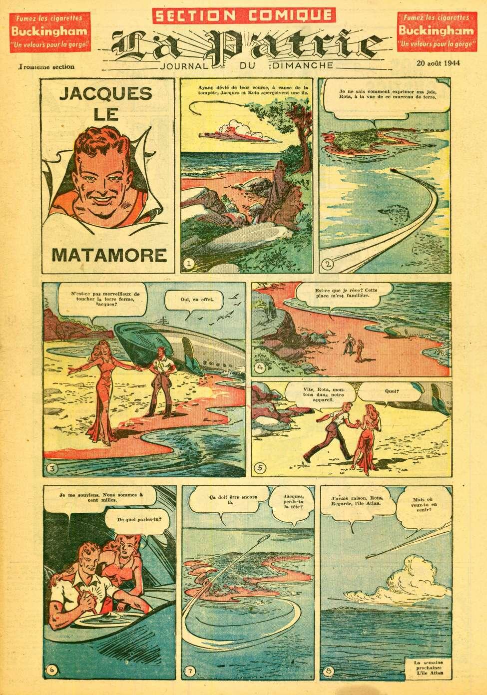 Comic Book Cover For La Patrie - Section Comique (1944-08-20)