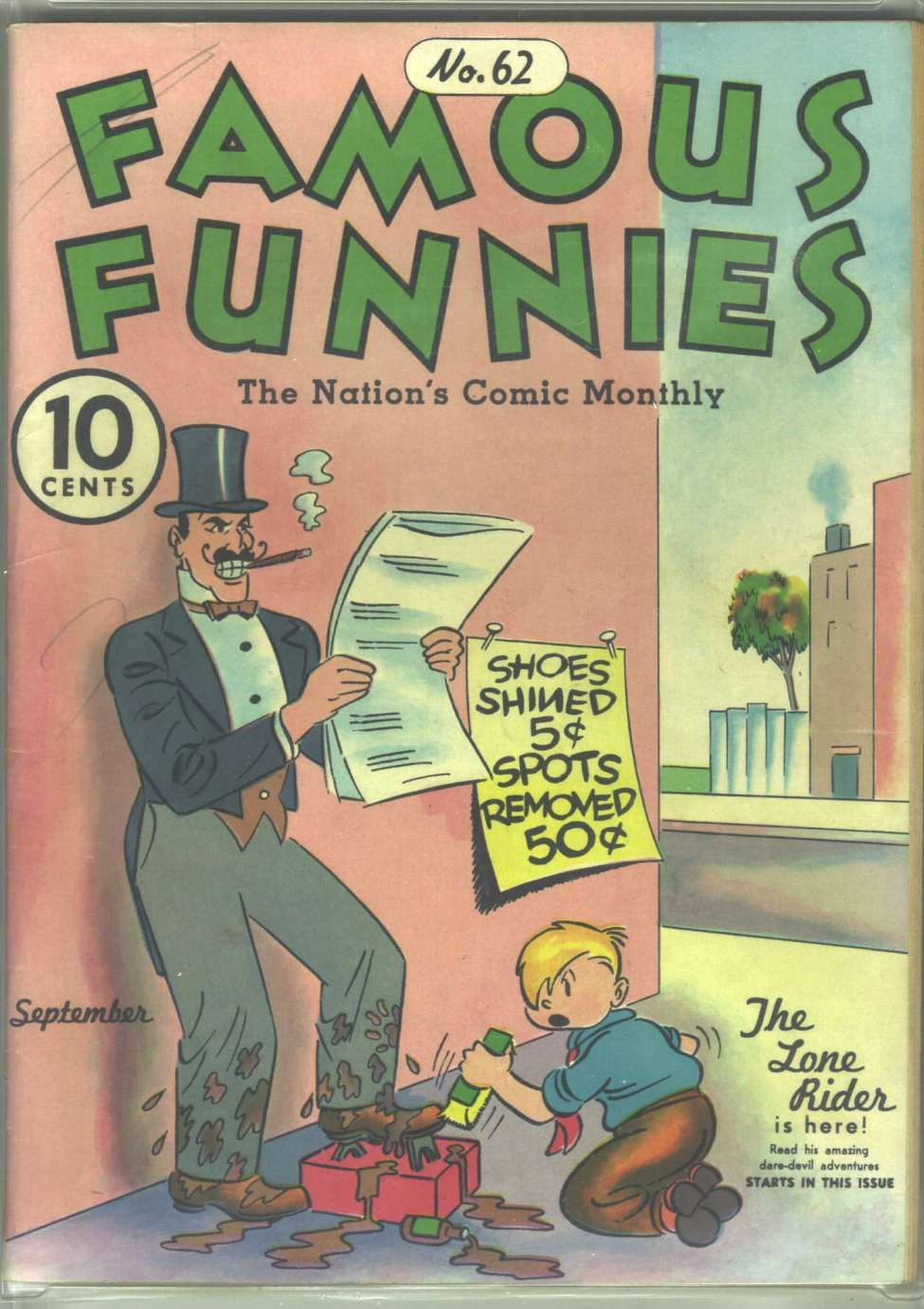 Comic Book Cover For Famous Funnies #62