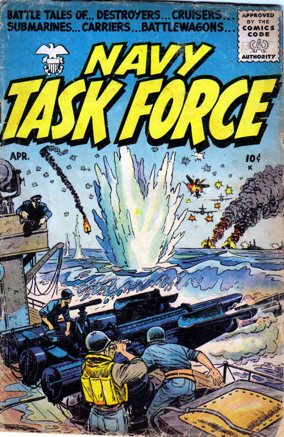 Comic Book Cover For Navy Task Force #3