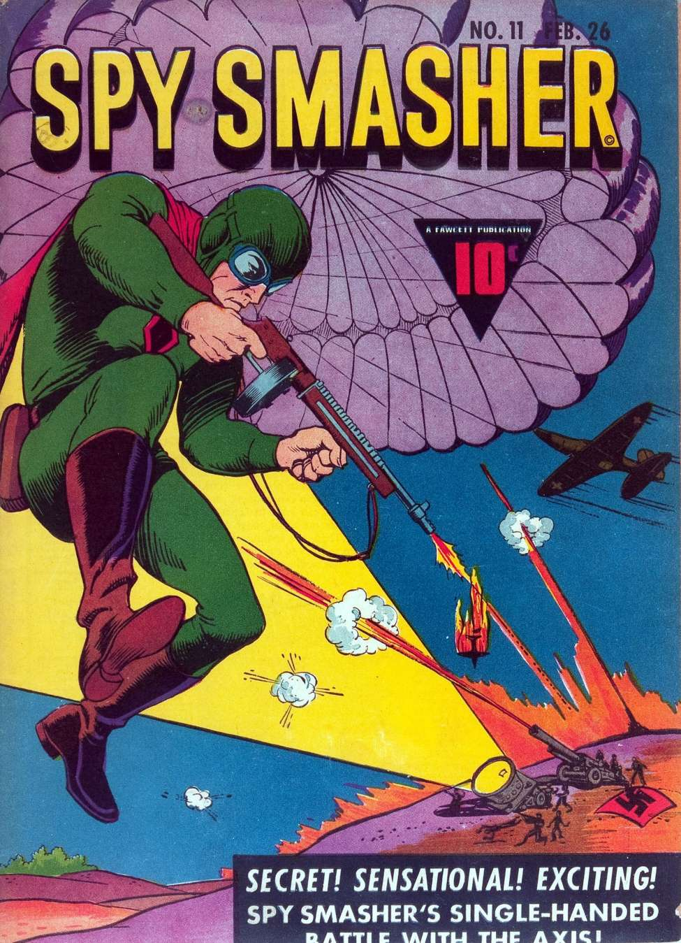 Comic Book Cover For Spy Smasher #11