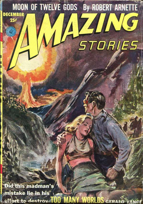 Comic Book Cover For Amazing Stories v26 12 - Too Many Worlds - Gerald Vance
