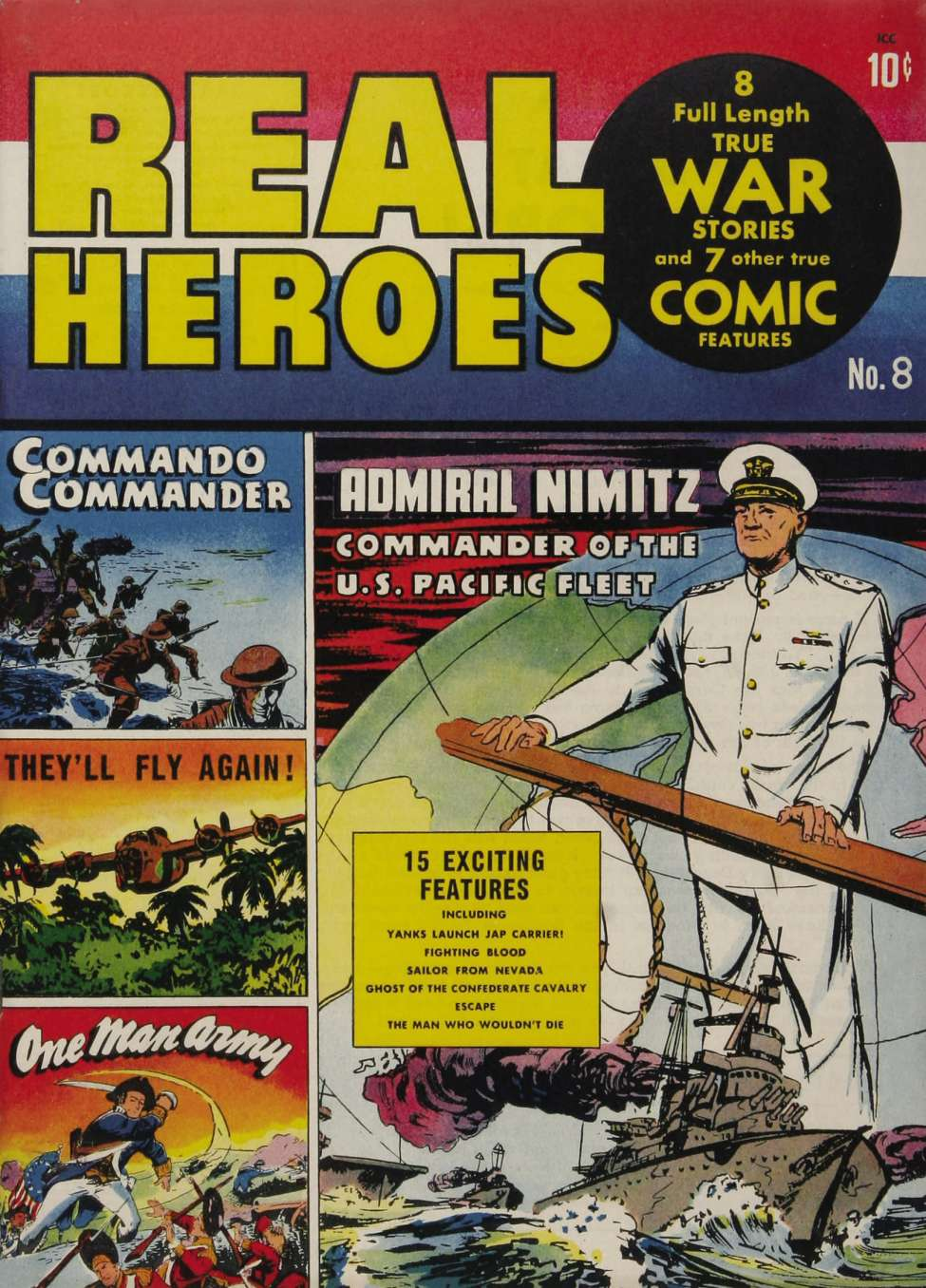 Comic Book Cover For Real Heroes #8