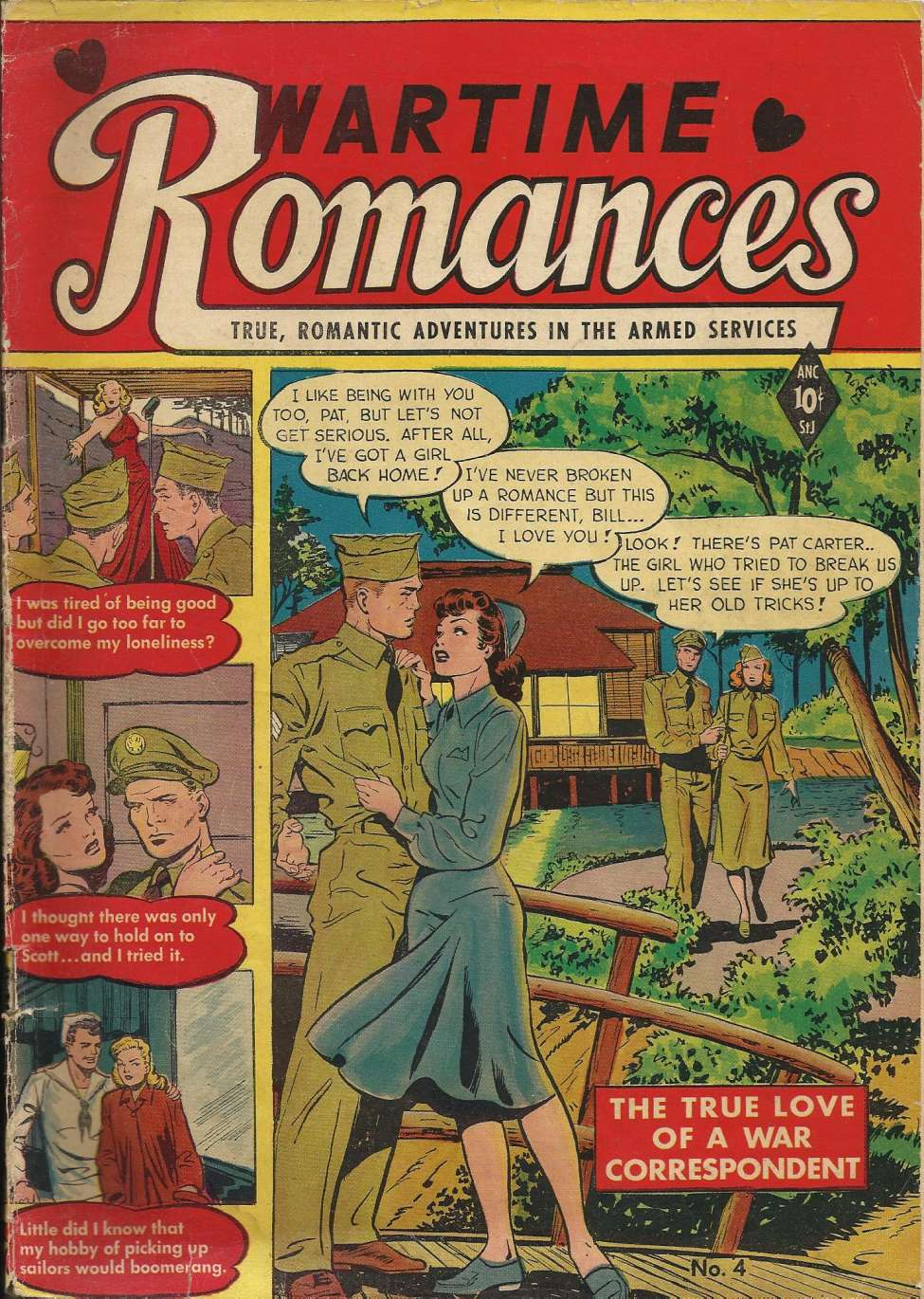 Comic Book Cover For Wartime Romances #4