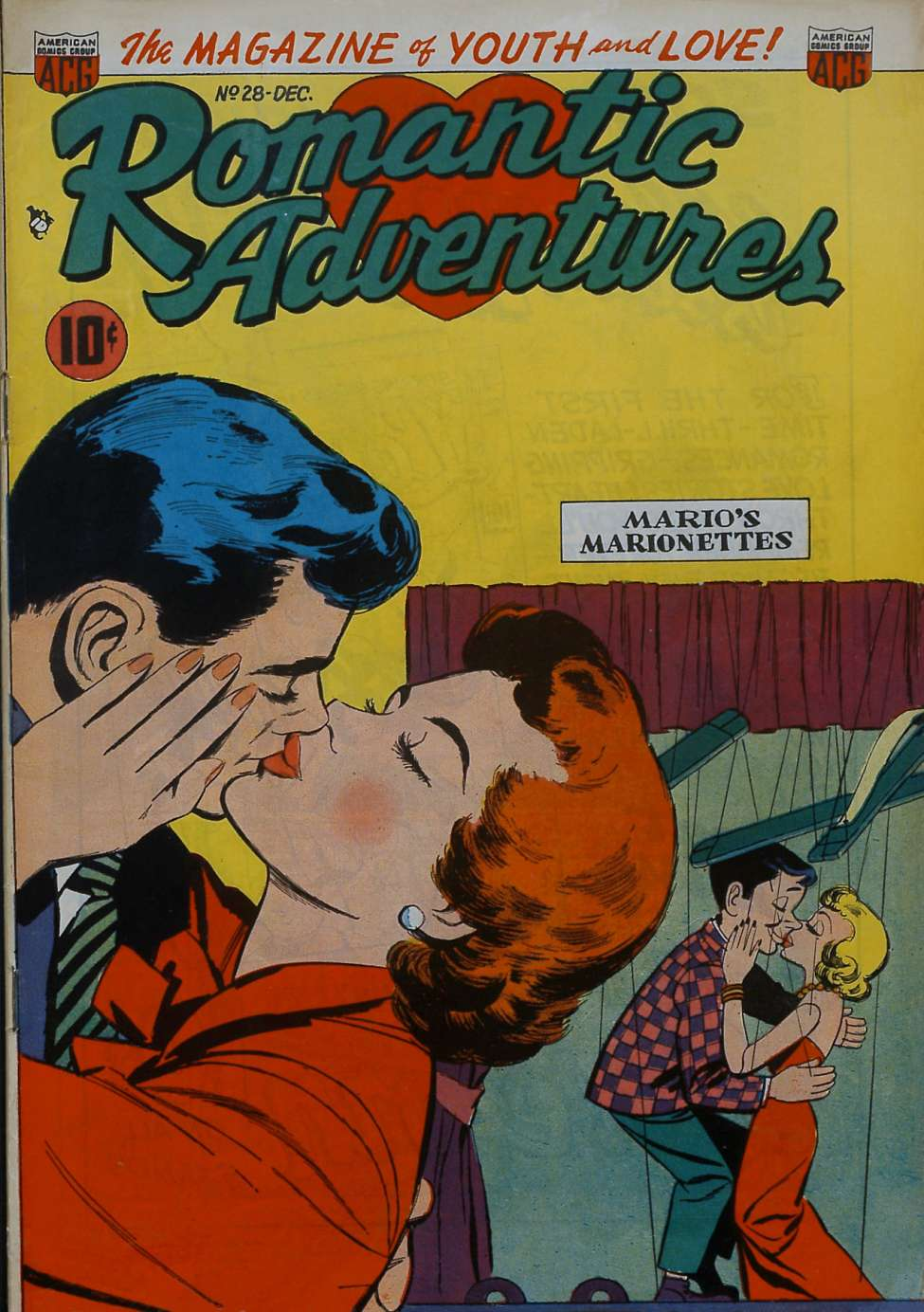 Comic Book Cover For Romantic Adventures #28