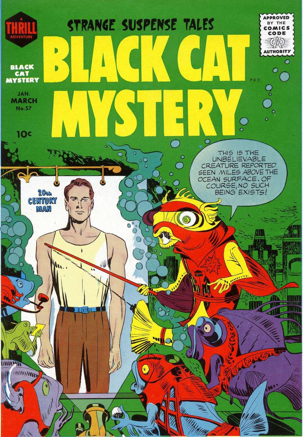 Comic Book Cover For Black Cat #57