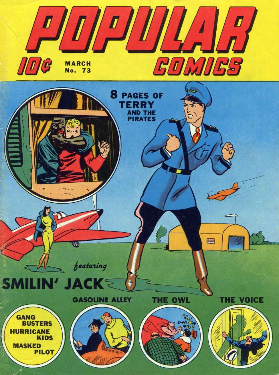 Comic Book Cover For Popular Comics #73