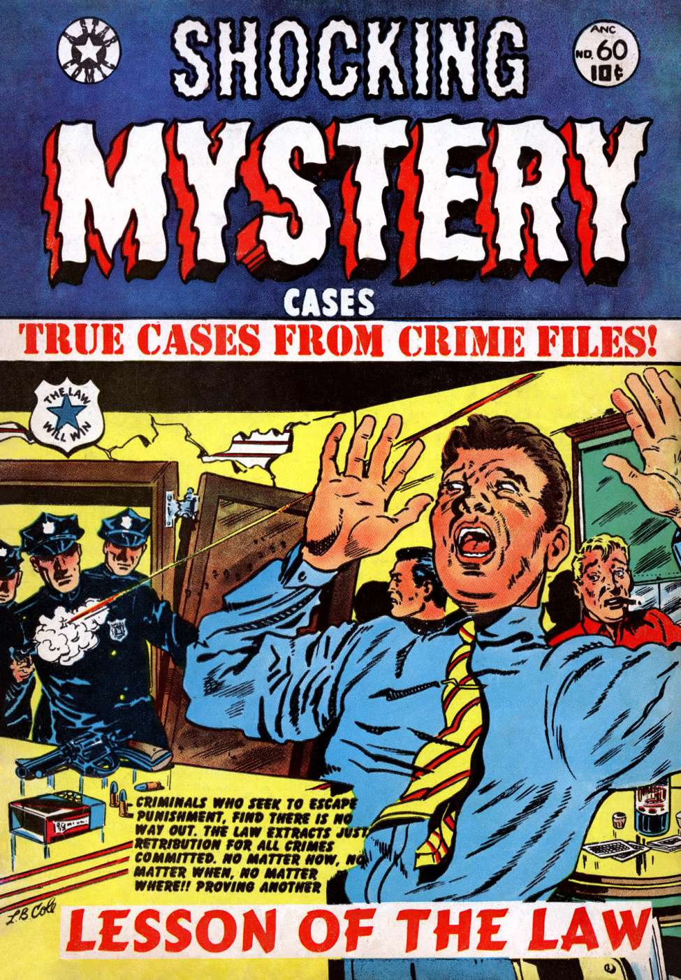 Comic Book Cover For Shocking Mystery Cases #60