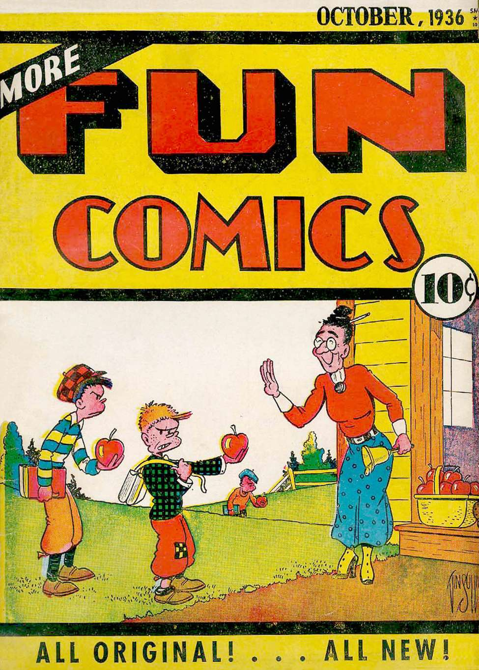 Comic Book Cover For More Fun Comics v2 2 [14]
