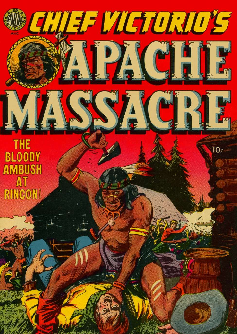 Comic Book Cover For Chief Victorio's Apache Massacre [nn]