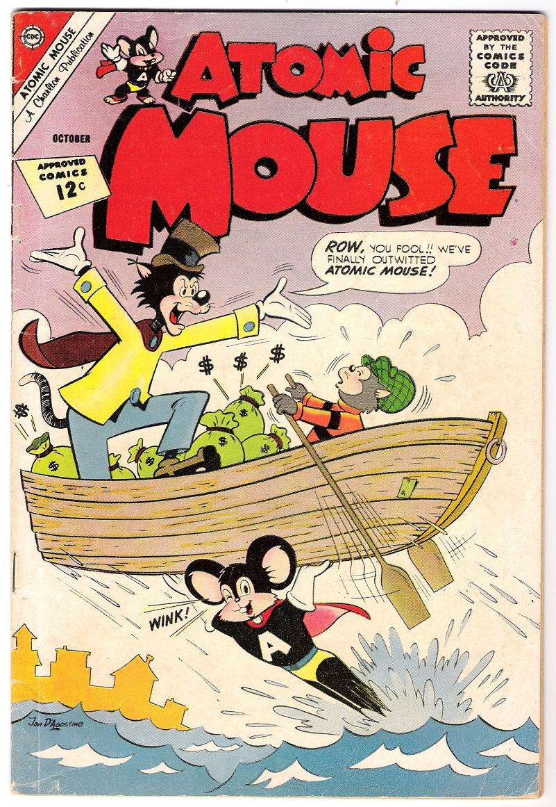Comic Book Cover For Atomic Mouse #50